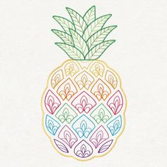 Let your projects shine with this throwback pineapple design.