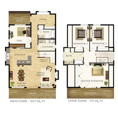Selkirk Floor Plan three bed upstairs