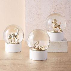 LED Light-Up Snow Globes - Small   west elm