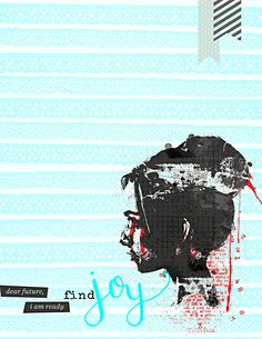 Find Joy Art Journal | BYOC at The Lilypad | Month of Challenges - Day 2 | One Little Word® JOY