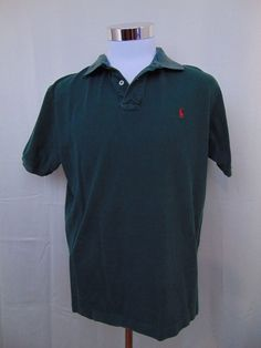 Ralph Lauren Polo Shirt Forest Green Short Sleeve Size Large #595 #RalphLauren #PoloRugby