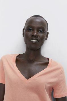 V - NECK BASIC T-SHIRT-T-SHIRTS-WOMAN | ZARA Australia Zara Australia, V Neck, T Shirt, Women, Supreme T Shirt, Tee, Women's, T Shirts, Woman