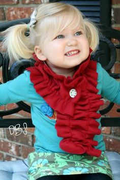 Super-dooper easy. two lines of sewing and a buttonhole made out of fleece!! adorable!!