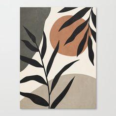 MINIMALIST LEAVES 08 Canvas Print