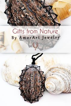 Pin to save the next gift for yourself!    Earthy jewelry, Agate necklace, Huge pendant, Large necklace pendant, Natural crystal jewelry, Mens pendant necklace, Rustic pendants  Beautiful handmade Macrame Agate pendant necklace with an adjustable black necklace cord.     This creation is a one of a kind Unisex piece that can fit any occasion.   (..*♥FREE INTERNATIONAL SHIPPING♥*¨)