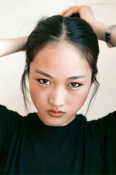 How-To: An Easy Cat Eye as demonstrated on model Jing Wen