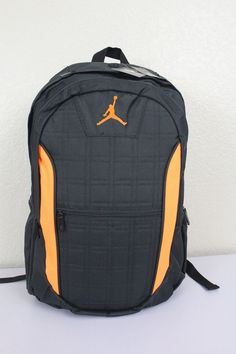 NIKE JORDAN Jumpman Backpack Anthracite Citrus Laptop Tablet Case Book Bag  NWT  Nike a0bf2ff781891