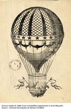 aerostat gravure - Поиск в Google Air Ballon, Hot Air Balloon, Vintage Images, Vintage Art, Ballon Illustration, Air Balloon Tattoo, Art Et Design, Art Plastique, Art Inspo