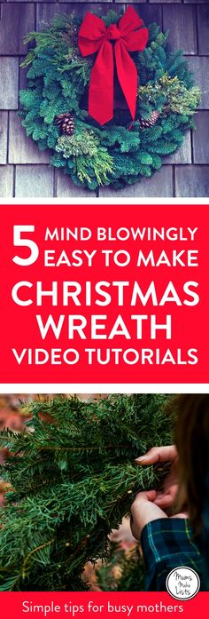 Christmas wreaths are the loveliest way to welcome Christmas into your home for the holiday season. But DIY Christmas wreath making? What if you have no time and you're just not very good at craft?  Fear not. It can be easy. We've put together a how to ma