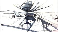 """Transformable Antarctic Research Facility "" thesis conceptual drawings © Sergiu Radu Pop"