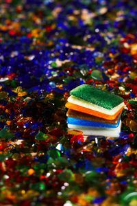Decorate your home with colorful resin tiles.