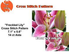 Freckled Lily Cross Stitch Pattern PDF File by BugzAndOnions