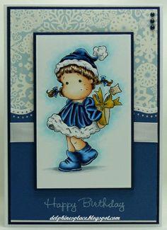 Something for You Tilda on a birthday card. Copics: B32, 34, 37, 39, BG0000, 000, C0, 1, 3, E000, 00, 02, 11, 31, 33, 35, 37, 40, 41, 43, Y21, 26, 28