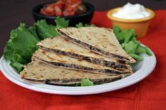 5 Healthy Snacks with 3 Ingredients or Less: 2. Mushroom Quesadilla