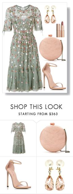 """Romantic evening"" by sing-forthelife ❤ liked on Polyvore featuring Needle & Thread, Serpui, Stuart Weitzman, Valentin Magro and Charlotte Tilbury"