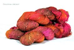 Donegal tweed  merino  hand dyed  fingering by CountessAblaze