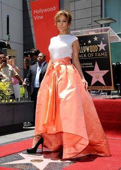 Christian Dior's Tangerine Ball Skirt