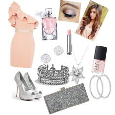 Christmas Eve Party by swaggy-sarim on Polyvore featuring polyvore, fashion, style, Saba, Jessica McClintock, David Yurman, La Preciosa, Lancôme, NARS Cosmetics and Urban Decay