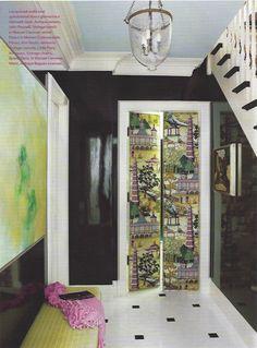 papered doors (kitchen?). Ruthie Somers, Veranda