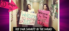 Five Ways to Rep Your Sorority In the Dorms #sorority #SororityLife #GreekLife #SororityRep #Dorms #CollegeDorm
