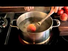 Quickly Peel Peaches and Tomatoes with a Hot Water Soak Followed by an Ice Water Bath