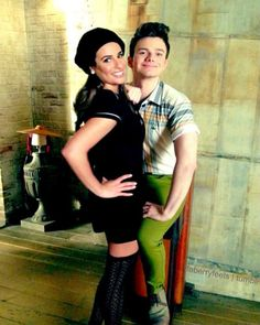 Lea Michele and Chris Colfer.