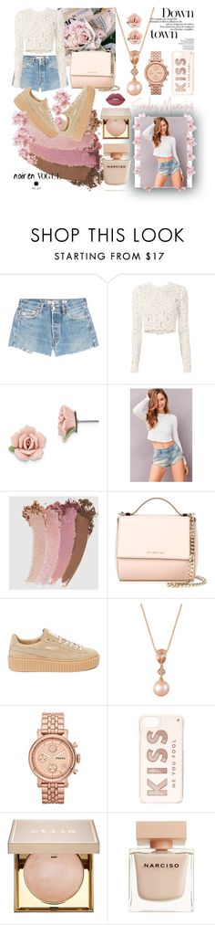 """""""Sunday Morning"""" by aphrodite97s ❤ liked on Polyvore featuring RE/DONE, A.L.C., 1928, BDG, Gucci, Givenchy, Puma, LE VIAN, FOSSIL and Kate Spade"""