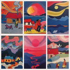 Art Room Britt: Ted Harrison Canadian Landscapes
