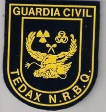 SPAIN GUARDIA CIVIL Police Patch VELCRO BOMB SQUAD TEDAX -NRBQ Old Model