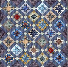 Barbara Brackman's MATERIAL CULTURE: Passion for Prussian Blue: Free Pattern  @modafabrics