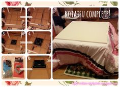 Deco Adventures: DIY Kotatsu Tutorial from IKEA Coffee Table You know you want one Diy Crafts To Do, Diy Arts And Crafts, Diy Projects To Try, Japanese Home Decor, Asian Home Decor, Diy Japanese Furniture, Ikea Coffee Table, Otaku Room, Diy Table