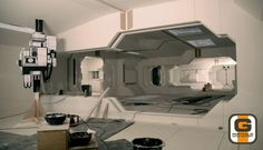 From the Lunar Industries logs and library of Gavin Rothery Futuristic Interior, Moon Setting, Sf, Movie Props, Logs, Interior Architecture, Furniture Design, Sci Fi, Interiors