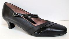 BeautiFeel Black Leather Mary Jane Pump Size 41/US 10-10.5 #BeautiFeel #PumpsClassics