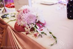 The flowers for the wedding table