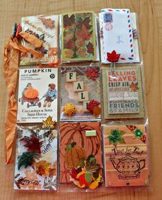 Isn't it fun to get goodies in the mail from friends? This week I got two very special items.     I won this darling little pumpkin gi...