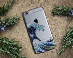 CAJA del teléfono de la onda, la gran ola de Kanagawa iPhone 6 7 además de diseño de la caja
