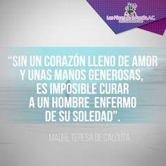 #Frases #Personasfamosas Madres Teresa de Calcuta #amor #generosidad