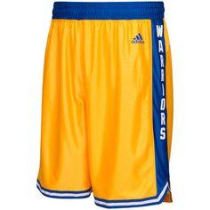 adidas Golden State Warriors Gold Hardwood Classics Swingman Basketball Shorts