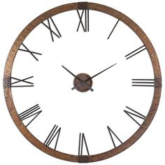"""Uttermost Amarion 60"""" Copper Wall Clock 06655"""