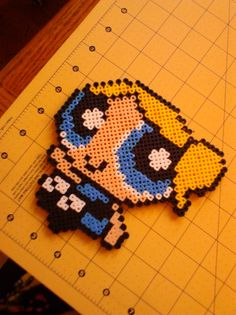 Bubbles Powerpuff Girls Magnet perler beads by PerlerBeadBeauty