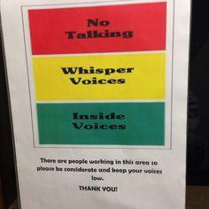 No talking.