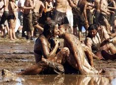 Love in the mud...Woodstock