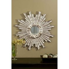 Hickory Manor House 25-inch Padrone Mirror in Shimmer