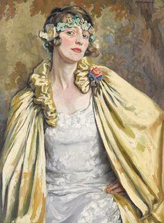 Portrait of Dorothy Richmond, 1925 by Emily Hilda Rix Nicholas (Australian, 1884-1961)