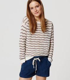 Stitch fix stylist: really love the chevron pattern and the color with the navy shorts. soft and neutral