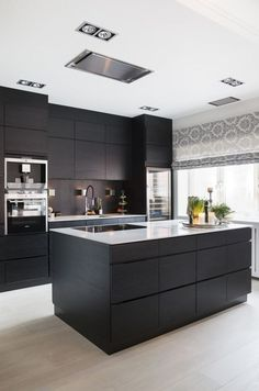 Contemporary Kitchen Design (Benefits and Types of Contemporary Kitchen) Contem Modern Kitchen Design Benefits Contem Contemporary Design Kitchen Types Luxury Kitchen Design, Contemporary Kitchen Design, Best Kitchen Designs, Interior Design Kitchen, Diy Interior, Modern Interior, Coastal Interior, Modern Design, Black Kitchens