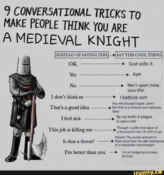 good to know Starwars, Dankest Memes, Funny Memes, Puns Jokes, Silly Memes, Landsknecht, Cosplay Anime, Medieval Knight, History Memes
