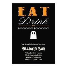 CLICK ON THE LARGER IMAGE TO SEE PRICING AND PURCHASING INFORMATION ... Scary Halloween Bash Party Invitation