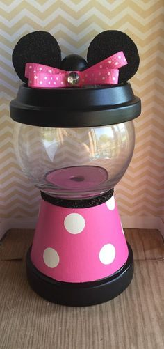 Minnie mouse faux gumball machine