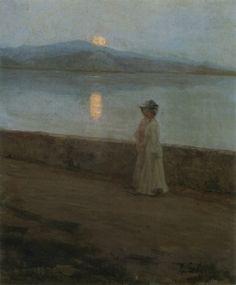 """""""Moonlight on the Lake"""" c.1900  - Elin Kleopatra Danielson-Gambogi (Finnish, 1861 - 1919)"""